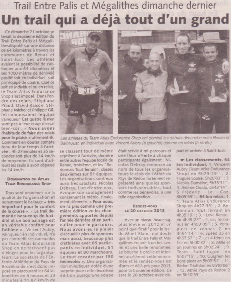 Les infos du Pays de Redon 24/10/2012