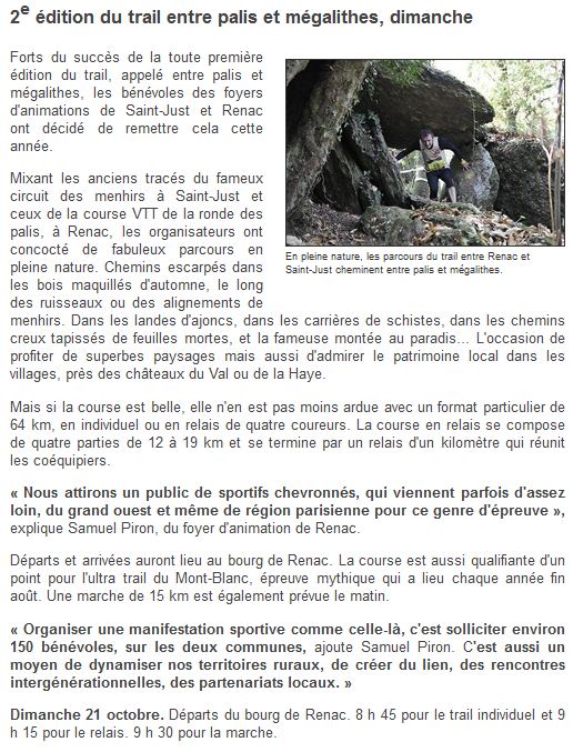 Ouest France 19/10/2012